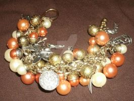 Victorian Steampunk Jumble Bracelet with charms by SacredJourneyDesigns