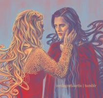 Morgana and Morgause palette meme by zerda-vulpes