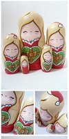 Sexy Mrs Claus Russian Dolls by ponychops