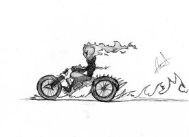 Ghost Rider quick sketch by WaterWizz