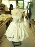 Paper, back of 50s Prom dress by Sukai3