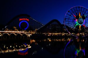 Paradise Pier at Night by exxodium