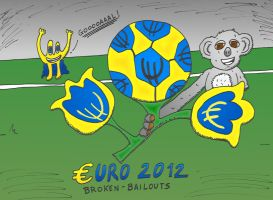 Binary Options News caricature of the Euro 2012 by optionsclickblogart