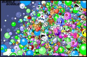 Bubble Bobble Madness by JayAxer