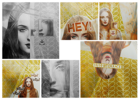 Red Head Mixed Icons by xcrusnik