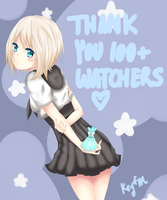 Thank You 100+ Watchers! by Key-of-M