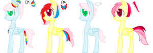 Flutterdash Foals for AnimeGirl777 CLOSED. by ChocoCrazeh