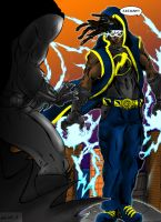 Static Shock by goldenmurals