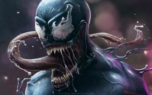 Venom close up by nixuboy