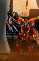 Rodimus and X-23 by DStevensArt