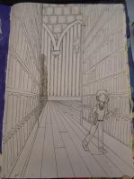 Illegibilus: The Halloween on the Library WIP by Tsukiko75014