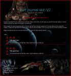AvP journal skin v2 by ziba