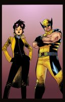 Logan And Jubilee by GreeneLantern