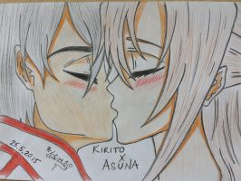 Sword Art Online - Kirito and Asuna by stipe320