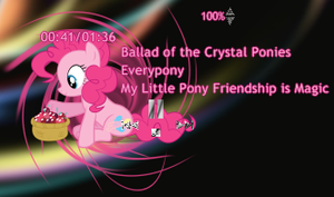 Pinkie collecting Crystal Berries Player Rainmeter by LlodsliatLNS