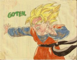 Goten super Saiyajin by DrawingSpirit2015