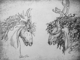 Adarok and The Nordic Prince. by ladyburrfoot