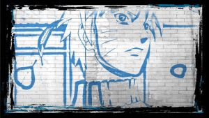 Naruto Graffiti Wallpaper by lloviendo-amor