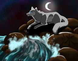 Moonlight River by Yintheicewolf
