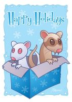 Ferret Holiday Card by fizzgig