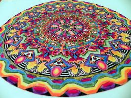 My flat paper mandala from a different angle by Lou-in-Canada