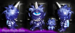 Purple People Eater Munny by greengorilla3000