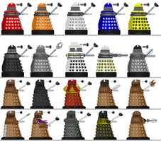 Daleks Sprites Final by shadowthewedgehog