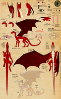 Anna as Dragoness - reference by VixenDra