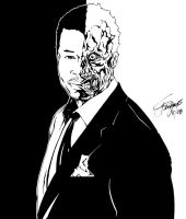 TERRANCE HOWARD: TWO-FACE by ARTofTROY