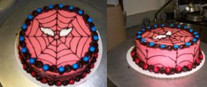spiderman cake by gardengnome69