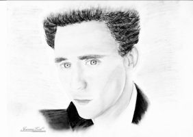Tom Hiddleston by JeanneyLost