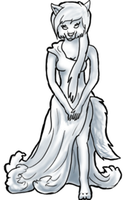Anthro Dress Pose (FREE) by BluuWynter