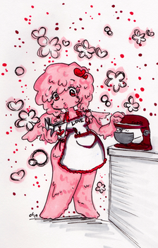 Cupid Slime Girl by Cosmic-Sugar