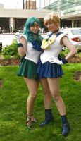 Sailor Neptune and Uranus2 by tfcreate