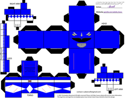 Blue MMPR Cubee by Ameyal