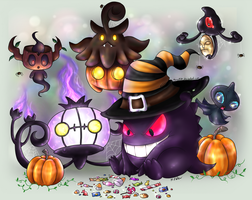 Happy Ghost-type Halloween by Mary1517