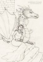 Dragon drawing by AdriennEcsedi