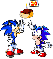 Happy 20th Birthday Sonic by JamesmanTheRegenold