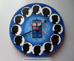Wall Clock - 50th Doctor Who Anniversary by AnastasiyaKosenko