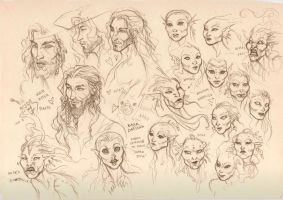 Captain and Mermaids faces by LiberLibelula