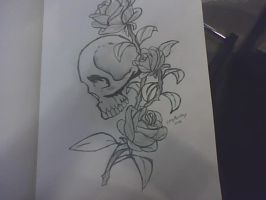 skull tattoo design by anothernormalperson