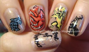 Game of Thrones Mani by neko-dansu