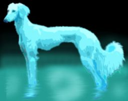 Ghost Saluki by MWmagic