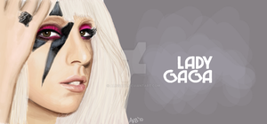 Lady Gaga Facebook Graffiti by alissavb
