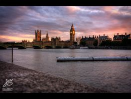 Big Ben and the Thames by Hacky-Sack