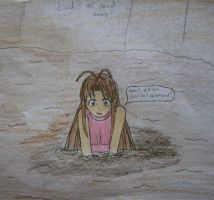 Naru Narusegawa in quicksand by Lady-of-Mud