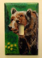 Bear Light Switch Plate by JazIllustrations