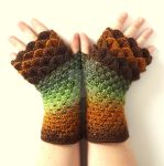 Forest Dragon Gloves by FearlessFibreArts