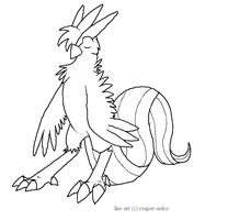 chibi articuno lineart