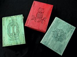 THREE WOODEN BOOKS :-) by MassoGeppetto